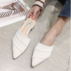 Anran - Pointy-Toe Flat Mules