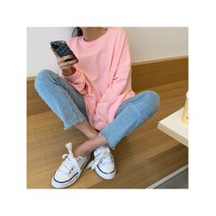 NANING9 - Pastel Color Oversize Sweatshirt