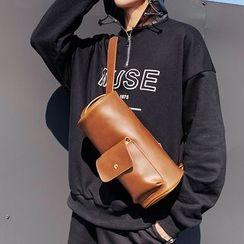 ETONWEAG - Faux Leather Cylinder Sling Bag
