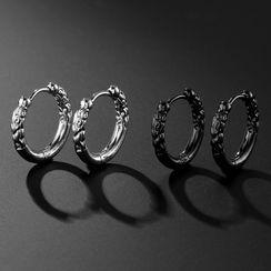 Prushia(プルシア) - Stainless Steel Hoop Earring