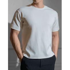 STYLEMAN - Crew-Neck Seam-Trim T-Shirt