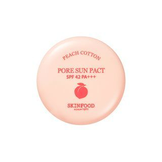 SKINFOOD - Peach Cotton Pore Sun Pact SPF42 PA+++ (#01 Clear)