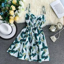 Lucuna - Flower Print A-Line Sundress