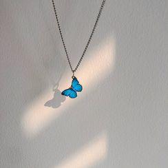 Calypso - 合金蝴蝶吊坠项链