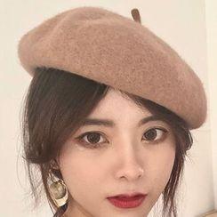 Lots2luv - 纯色贝雷帽
