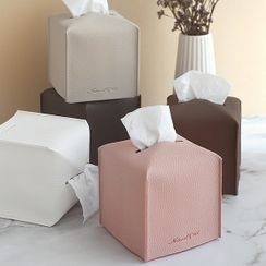 iswas - Faux-Leather Tissue Cover
