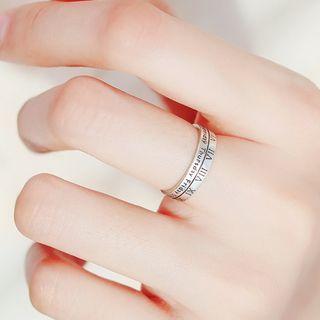 Blinglitz - 925 Sterling Silver Roman Numeral Open Ring