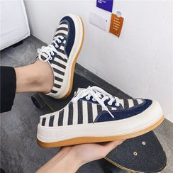 MARTUCCI - Striped Sneaker Mules