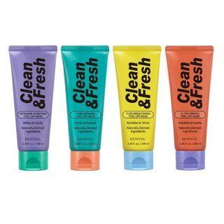 EUNYUL - Clean & Fresh Peel-Off Mask - 4 Types