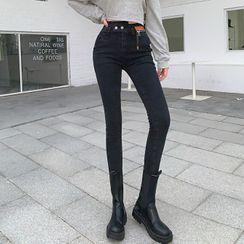 Bybee - 高腰窄身牛仔裤