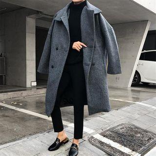 JUN.LEE(ジュンリー) - Double-Breasted Oversize Woolen Coat