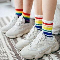 Rivara - Rainbow Striped Socks