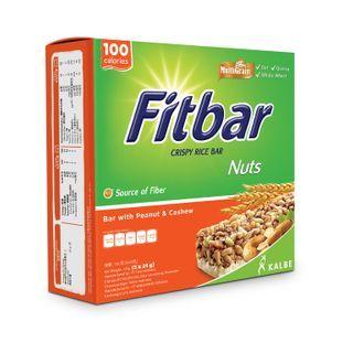 Three O'Clock - Fitbar Crispy Rice Bar with Peanut & Cashew (100 calories) 24g x5