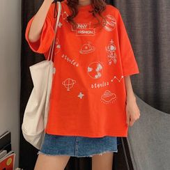 IndiGirl - Short Sleeve Printed T-Shirt
