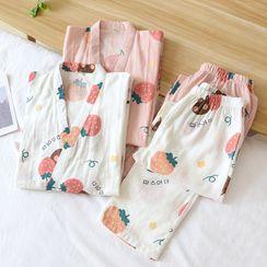 Dogini - Strawberry Pajama Set