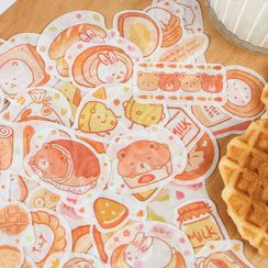 Nina's House - Animal & Baked Goods Print Stickers