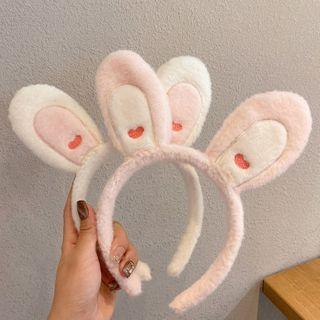 True Glam - 布藝兔耳洗面頭帶