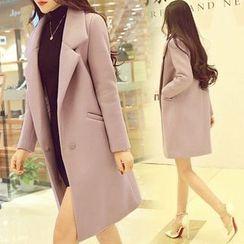 Ashlee - Plain Wool Coat