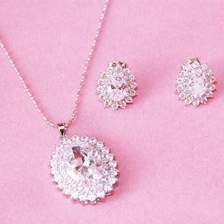 Neostar - Bridal Set: Rhinestone Necklace + Earrings