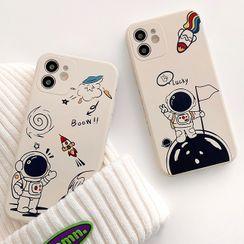 Primitivo - Astronaut Print Phone Case - iPhone 12 Pro Max / 12 Pro / 12 / 12 mini / 11 Pro Max / 11 Pro / 11 / SE / XS Max / XS / XR / X / SE 2 / 8 / 8 Plus / 7 / 7 Plus