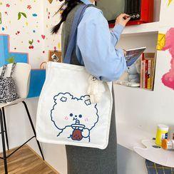 OUCHA - 卡通印花帆布手提袋
