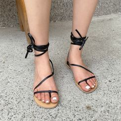 UPTOWNHOLIC - Toe-Loop Strappy Sandals