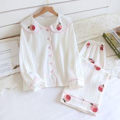 Dogini - Long-Sleeve Printed Pajama Set
