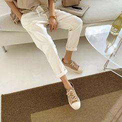 NANING9 - Toe-Cap Suede Sneakers