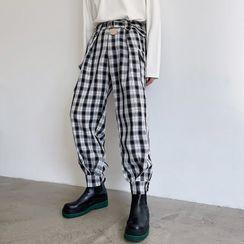 ANCHO - 格子哈伦裤