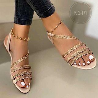 Weiya - 多带亮面凉鞋