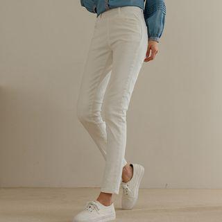 JUSTONE - Wide-Band Organic-Cotton Skinny Pants