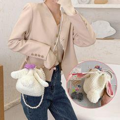 Utin - Mini Crochet Faux Pearl Crossbody Bag / DIY Kit