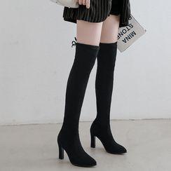Cinnabelle - Block-Heel Over-The-Knee Boots