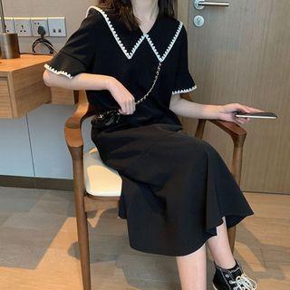 Claudestin - 短袖A字連衣中裙