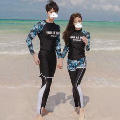 Hipper - Couple Matching Long-Sleeve Rashguard / Bottom / Shorts / Pants / Set