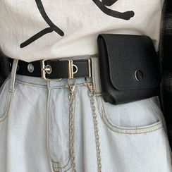 Ayame - Faux Leather Chained Belt Bag