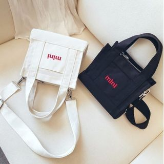 Youme - Lettering Canvas Hand Bag