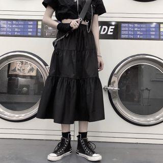 Giuliana - Tiered A-Line Midi Skirt