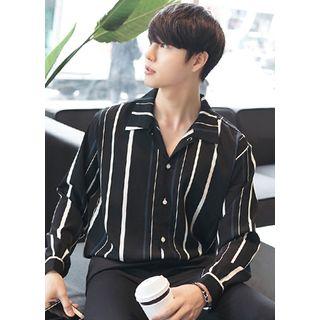 JOGUNSHOP - Loose-Fit Stripe Shirt
