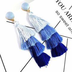 AONA - Layered Tassel Dangle Earring