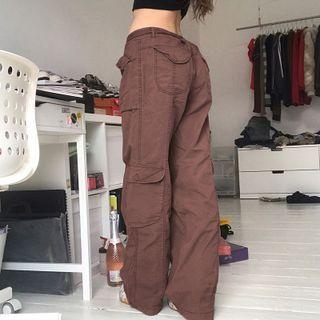 Honet - Loose-Fit Low-Waist Cargo Pants