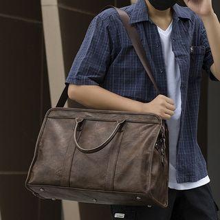 TESU - Faux Leather Plain Carryall bag