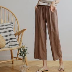 JUSTONE - Crinkled Wide-Leg Pants