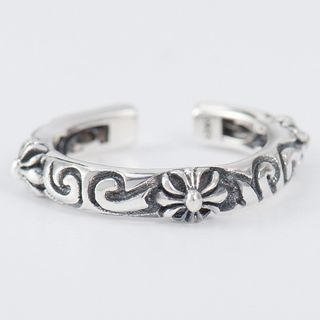CHOSI - 925 Sterling Silver Embossed Open Ring