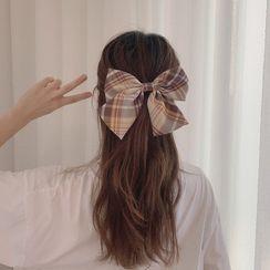 Tuhat - 格紋蝴蝶結髮夾