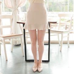 MyFiona - Ruffle-Hem Miniskirt