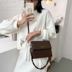 Lizzy - Plain Flap Crossbody Bag