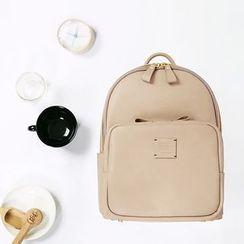 BABOSARANG - Zipper-Trim Faux-Leather Backpack