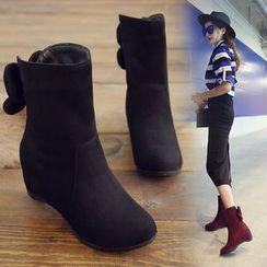 佳美 - 花形内增高短靴