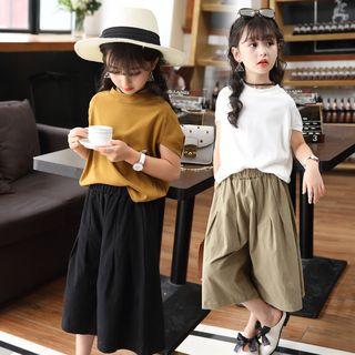 Pegasus - 小童套装: 纯色短袖T裇 + 九分宽腿裤